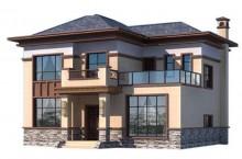 农村二层自建轻钢别墅